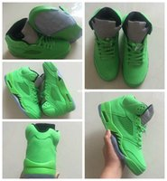 Wholesale balls for tennis - 2018 Brand 5 5s V Green Suede Mens Basketball Shoes Athletic Sports Sneakers Trainers Outdoor Designer Basket Ball Shoes For Men Size 8-13