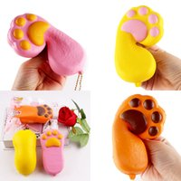 Wholesale bear paw charms for sale - Fashion Squishy Bear Paw Shape Phone Straps Charm Squishies Decompression Toy Kid Novelty Games Multi Color sq CR