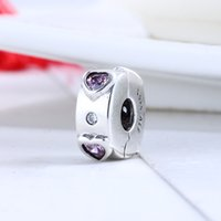 Wholesale pandora prices resale online - Factory Price Valentien s Day Real Sterling Silver Explosion of Love Clip Charm Beads Fit Pandora Bracelet DIY Jewelry Gift