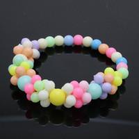 schwarze prom ohrringe großhandel-HEIßER Nette Kinder Mädchen Bubblegum Halskette Armband Kinder Schmuck Sets Candy Farben