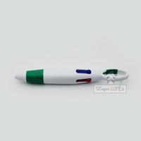 azul rojo negro verde pluma al por mayor-Regalos empresariales bolígrafo plástico multifunción rojo azul negro bolígrafo verde de buena calidad personalizado con su logotipo y texto