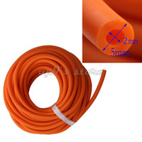 Wholesale slingshot rubber replacement for sale - Group buy 10M Rubber Latex Tube mm ID mm OD Orange ELASTICA Bungee Slingshot Catapult Outdoor Hunting Rubber Tubing Replacement