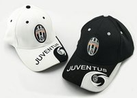 Wholesale embroidered football - 2017 hot teams can choose for Juventus soccer white Black DYBALA football badge caps Adjustable Cotton Italy Caps hats