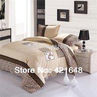 Wholesale leopard print bedding twin sets for sale - Group buy Cotton Luxury leopard bedding set twin full queen size bedclothes bed linen duvet cover