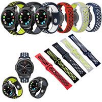 samsung-armband großhandel-Weiche Silikonarmbänder für Samsung Gear S3 Armband Uhrenarmbänder Sport Armbänder 20mm 24mm Ersatz Armband montre orologio di lusso Armbänder