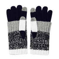 Wholesale Wool Ipad - Winter Gloves Mittens Men and Women Stripes Wool Full Finger Mitts Touchable Screen loves for Mobile Phone IPad