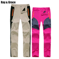 e3e27f0a9494 RAY GRACE Quick Dry Hiking Pants Women Summer Stretchy Outdoor Pants  Waterproof Men Trekking Fishing Trousers Mountain Climbing C18111401