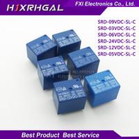 ingrosso batteria del misuratore elettrico-5PCS Relè SRD-03 05 09 06 24 12VDC-SL-C 5PINS 3V 5V 9V 6V 24V 12V Alta qualità