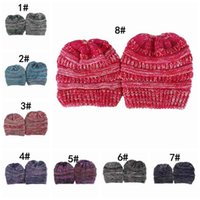 Wholesale Fashion Parent Child hats Baby Wool Beanie Winter Knitted Hats Warm Hedging Skull Caps Hand Crochet Caps Hats