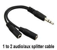 Wholesale hot Audio Conversion Cable mm Male To Female Headphone Jack Splitter Audio Adapter Cable LFA