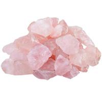 quarz rose reiki großhandel-200g natürliche rohe rosa Rosenquarz Kristall Rohstein Probe zum Stolpern, Polieren, Wicca Reiki Crystal Healing