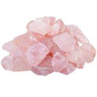 broderie au point de croix achat en gros de-Spécimen en pierre brute de cristal de quartz rose rose naturel naturel de 200g pour culpabiliser, polir, guérir le cristal de Wicca Reiki