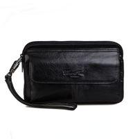 новый наручный телефон оптовых-New Men's Vintage Fashion Business Clutch Wrist Bag  Handbag Wallet Pouch Phone Pocket Pack