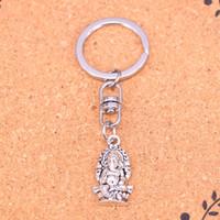 neuer buddha-ring großhandel-Neue Mode Keychain 26 * 14mm Ganesha elefanten buddha Anhänger DIY Männer Schmuck Auto Schlüsselanhänger Ring Halter Souvenir Für Geschenk