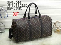 Wholesale embossed silk fabric - 55CM large capacity women travel bags famous classical designer 2018 sale high quality men shoulder duffel bags carry on luggage keepall