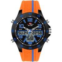 большие мужские спортивные часы оптовых-Black Digital Watch KAT-WACH  New Football Face Sports Style Big Wrist Watch For Men