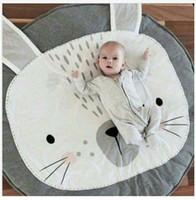 Wholesale game rugs - eClouds Cartoon Rabbit Newborn Kids Floor Mats Baby Crawling Blanket Chilren Game Padded Mat Round Carpet Play Rug Kids Room Decoration