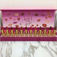 Wholesale peach lipstick makeup resale online - M Brand Lipstick Makeup Sets Colors Pink Peach Matte Lipstick Set Long Lasting Brands Lip Make Up Cosmetic Kit with Retail Packaging Box