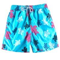 sörf tahtası pantolonu toptan satış-Lig Mavi Kaplumbağa erkek Mayo Erkekler Mayo Şort Plaj Sörf Pantolon Hızlı Kuru Baskılı Kurulu Şort Yaz Tropik Voleybol Mayo