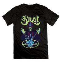 siyah ağır metal toptan satış-İsveç Ağır Metal Grubu Hayalet Poster Mens Siyah Casual Yaz T Shirt