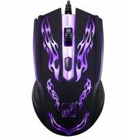 pc sieben großhandel-Ultradünne ergonomische Design Kabel Kabel optische Maus Gaming Mouse sieben Farben Licht für Laptop PC Gaming