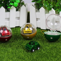 Wholesale flash remote controller for sale - Mini Two Channel Telecontrol Car Football Shape Q Version Funny Circular Infrared Cars Flexibly Model Toy yh W