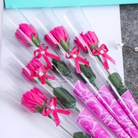 Wholesale carnations flower colors for sale - Carnation soap flower mother s day gift Christmas gift Creative gift warm and sweet present colors