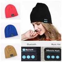 Wholesale warm music hat for sale - Wireless Bluetooth Beanie Hat Smart Warm Headphone Music Speaker Headset Cap Earphone Headset Speaker Mic Party Hats OOA5713
