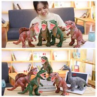 Wholesale super dinosaur toys resale online - Imitation Plush Dinosaur Doll Dinosaur Stuffed Animal Super Soft Cartoon Dinosaur Plush Toy Kids Gifts MMA766