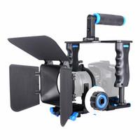 dslr gaiola superior venda por atacado-atacado liga de alumínio câmera de vídeo gaiola Kit Film sistema com vídeo gaiola Top Pega Matte Box Seguir o foco para DSLR