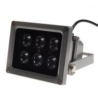 квадратные светодиодные светодиоды оптовых-ИК-осветитель инфракрасная лампа ночного видения для CCTV камеры 45 ° 60 ° 90 ° 6шт LED IP65 серый цвет AC 85-265 Вольт лучшей цене