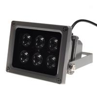 ingrosso i migliori prezzi delle telecamere-Lampada infrarossa illuminatore IR Night Vision per telecamera CCTV 45 ° 60 ° 90 ° Epistar 6pcs LED IP65 colore grigio AC 85-265 Volt miglior prezzo