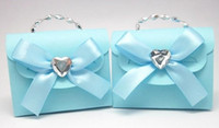 Wholesale Blue Favour Box - Hand bags with chain wedding favors boxes wedding candy bags chocolate box party favor bags wedding favours gift boxes