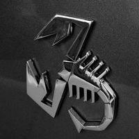 calcomanías de escorpiones al por mayor-Nueva etiqueta engomada adhesiva del emblema de la insignia del metal del coche del escorpión 3D para las etiquetas engomadas del logotipo de Fiat Abarth 500