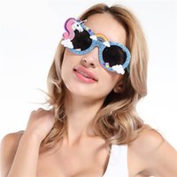 Wholesale mask designs red for sale - Group buy Creative Funny Unicorn Design Glasses Cartoon Pegasus Shape Party Sunglasses For Club Carnival Eyeglasses Props Hot Sale sf Z