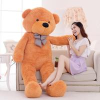 büyük oyuncak ayı kızları toptan satış-1 adet 200 cm Klasik Satış Oyuncak Büyük Boy Teddy Bear Cilt, Teddy Bear Coat, Kaliteli Fiyat Fiyat Yumuşak Oyuncaklar Kızlar Için