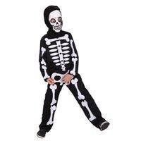Wholesale anime skeleton costume online - Carnival halloween skull skeleton costumes for kids boys boy girls child children party anime party fancy dress demon