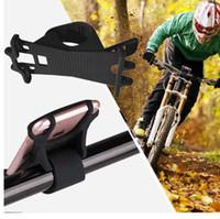zellenhalter silizium großhandel-Fahrrad-Handyhalter Universal-Silikon-Smartphone Fahrradhalterung für iPhone und andere Smartphones