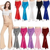 Wholesale yoga pants bloomers fitness resale online - Wide Leg Flare Pants Loose Stretch High Waist Long Pants Trousers Yoga Soft Pants Fitness Sports Bloomers Colors OOA4057