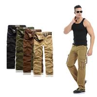 bolsillos tipo bolsillo al por mayor-Desgaste de los hombres 2018 Summer New Pure Cotton Pants Hombre Leisure Pocket Type Work Clothes Trousers