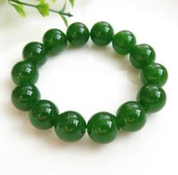 ingrosso pietra di gemma di diaspro-jasper verde bracciali di giada Perline refill Gem Stone Lucky Stretch Elastic Bracelet Fashion Jewelry