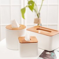 Wholesale paper towels holder resale online - Removable Tissue Box Roll Paper Wooden Creative Napkin Box Home Bathroom Car Tissue Container Towel Napkin Holder
