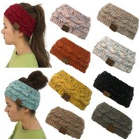 Wholesale colorful hair colors - CC Knitted Headband Colors Colorful Confetti Winter Warm Cable Knit Earflaps Cap Hair Band Twist Headbands Headwear OOA5459