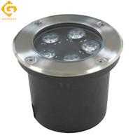 açık led avlu ışıkları toptan satış-LED Yeraltı Lambaları 5 W 12 V IP67 Gömülü Gömme LED Açık Zemin Bahçe Yolu Zemin Yard Lambası Peyzaj Işık RGB Mühendislik Işıkları
