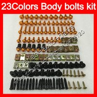 Wholesale ninja kawasaki body plastics - Fairing bolts full screw kit For KAWASAKI NINJA ZXR400 91 92 93 94 95 96 ZXR-400 ZXR 400 1991 95 1996 Body Nuts screws nut bolt kit 23Colors