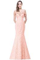 a09de4f39e52 Prezzo a buon mercato Elegante in rilievo di cristallo Red Royal Blue Lace  Mermaid Abiti da sera lunghi 2017 Prom Party Dress Robe De Soiree Longue