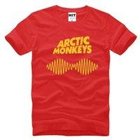 monos de roca al por mayor-Arctic Monkeys Rock impreso para hombre hombres camiseta camiseta moda 2017 nueva manga corta O cuello camiseta de algodón camiseta Hombre