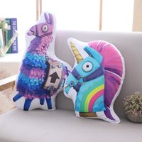 Wholesale animal horse games online - Fortnite Troll Stash Llama Plush Toy Hot Game Soft Alpaca Rainbow Horse Unicorn Stash Stuffed Pillow Doll Kids Birthday Gift