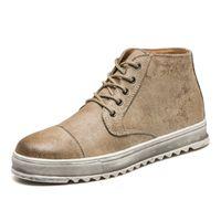 botas de deserto dos homens venda por atacado-Homens Sapatos de Couro Martin Retro Trabalho de Segurança Botas de Moda Mens Casual Bot No Deserto Cowboy Tornozelo Bota Homem Sapato de Trabalho