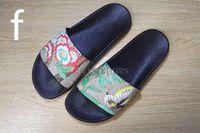 Wholesale flip flops clips - 2017 Top Quality Women Men's designer slippers clip feet flip style Tiger print Slide Sandal Floral Flip Flops Sandals Black Grey Green Red